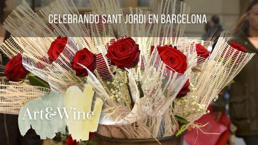 Celebrando Sant Jordi en Barcelona